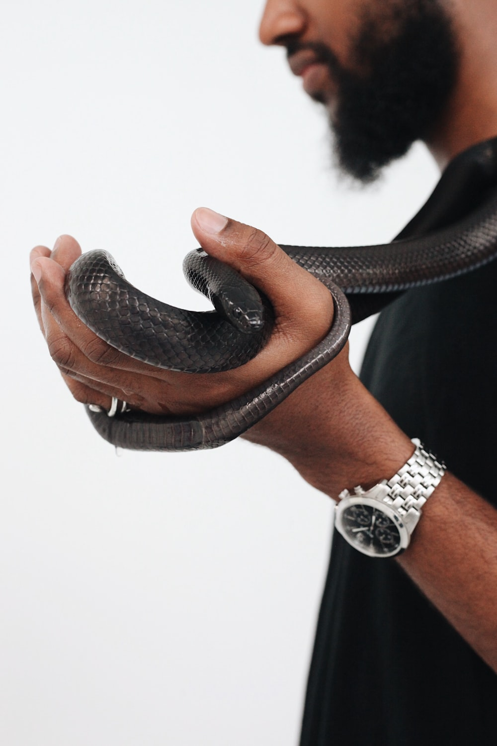 black leather accessory