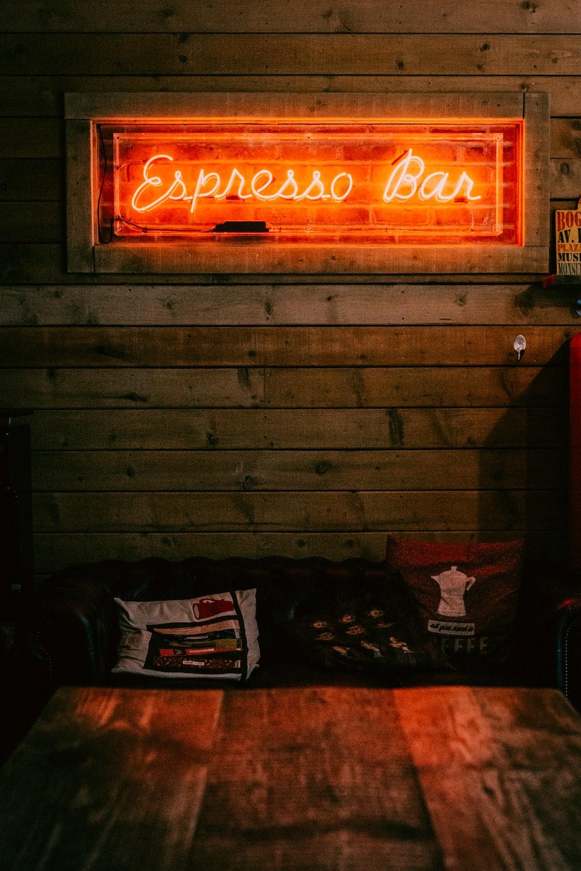 red Espresso Bar neon light