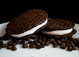 two cookie ice cream sandwich