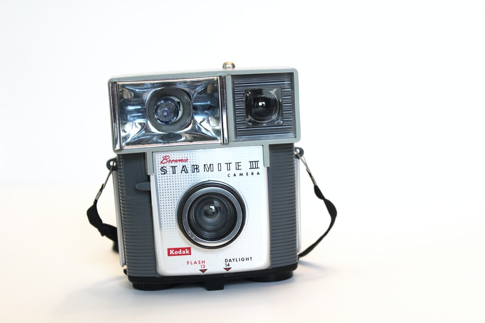 gray and white camera