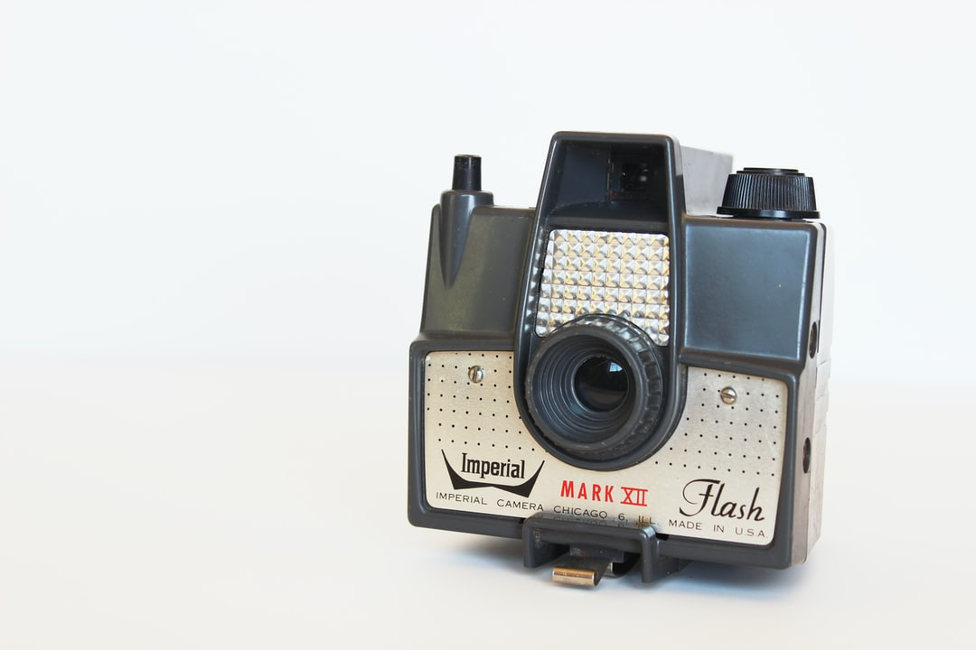 Vintage Imperial Mark XII Flash camera on white background. This was one of my many cameras in my vintage camera collection which I sadly lost in a house fire last February. I am slowly working on rebuilding my collection, little by little!