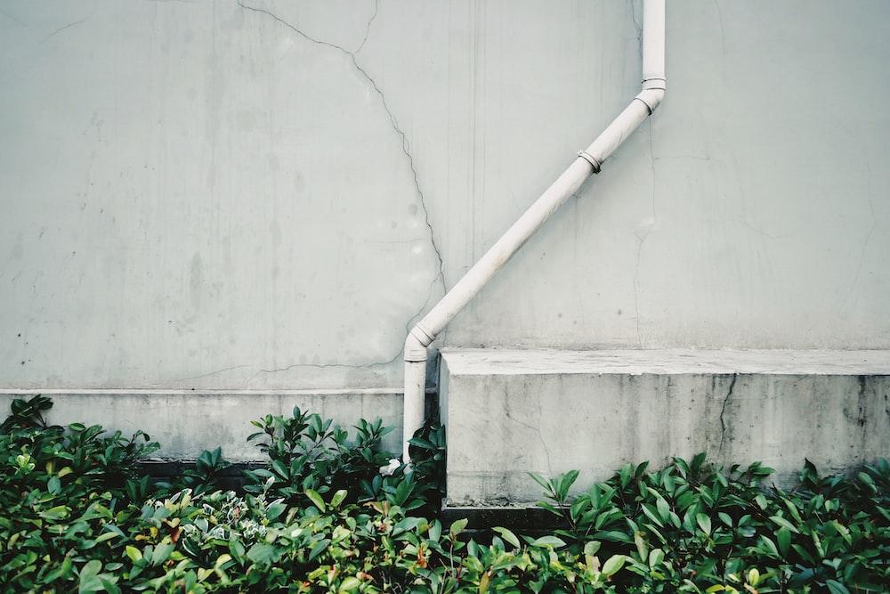 white PVC pipe