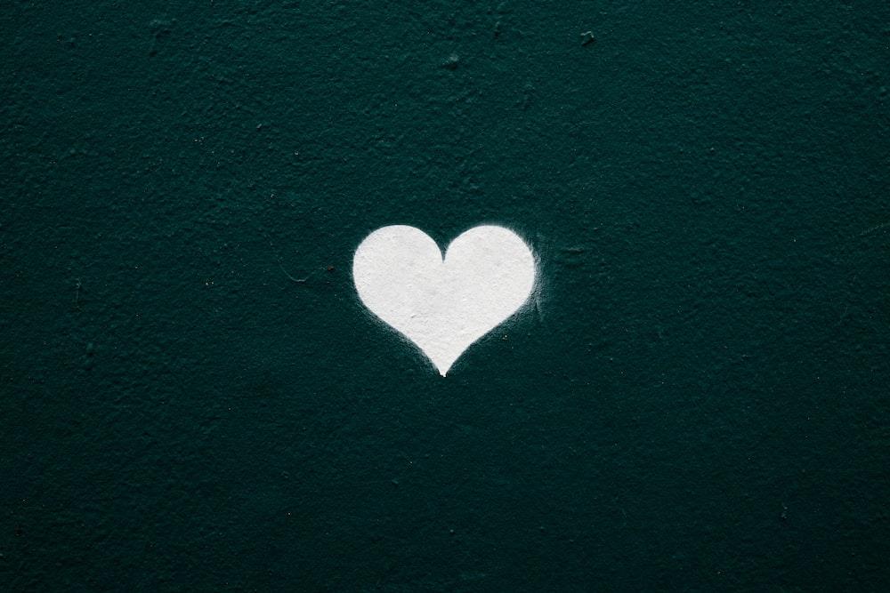 white heart illustration
