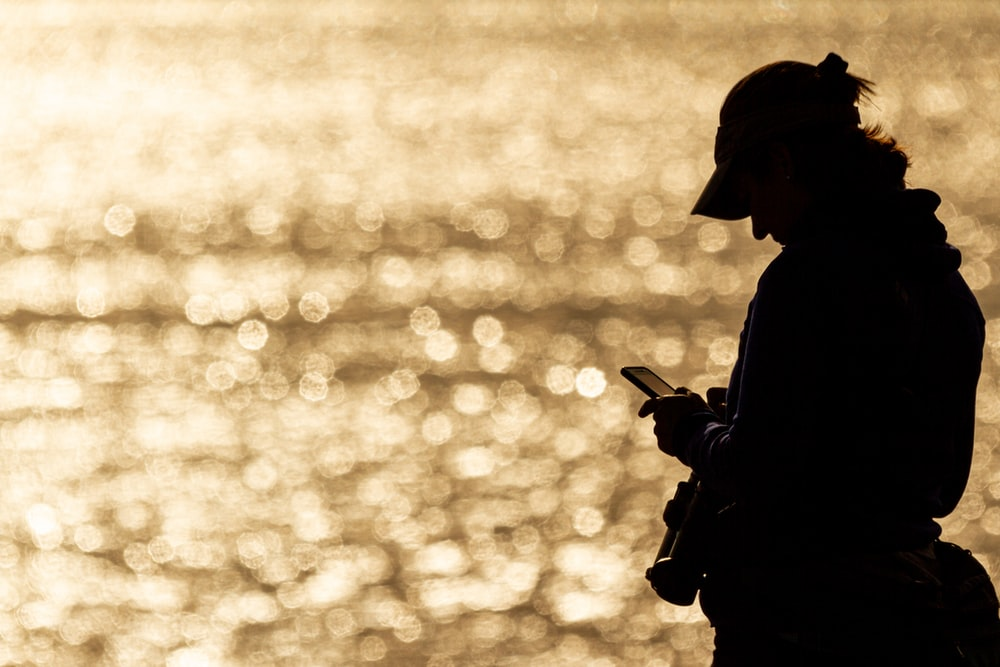 silhouette photography of person