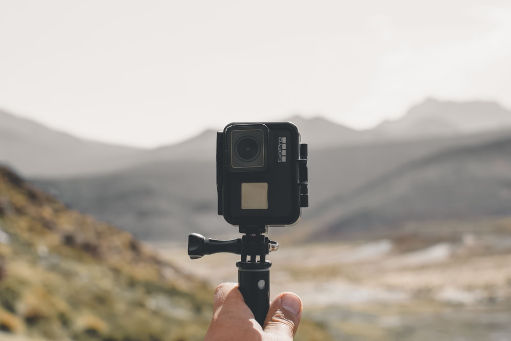 black Go Pro action camera