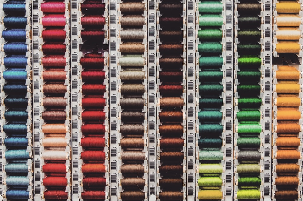 assorted color of thread spindle lot