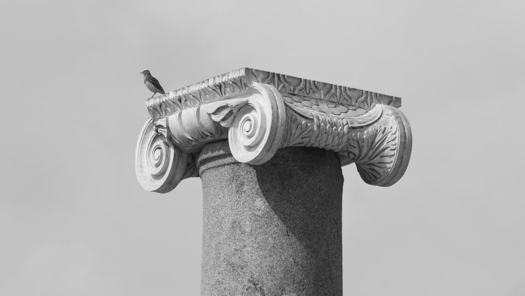 A column from the ancient city ruins of the capital of the Lycian League.