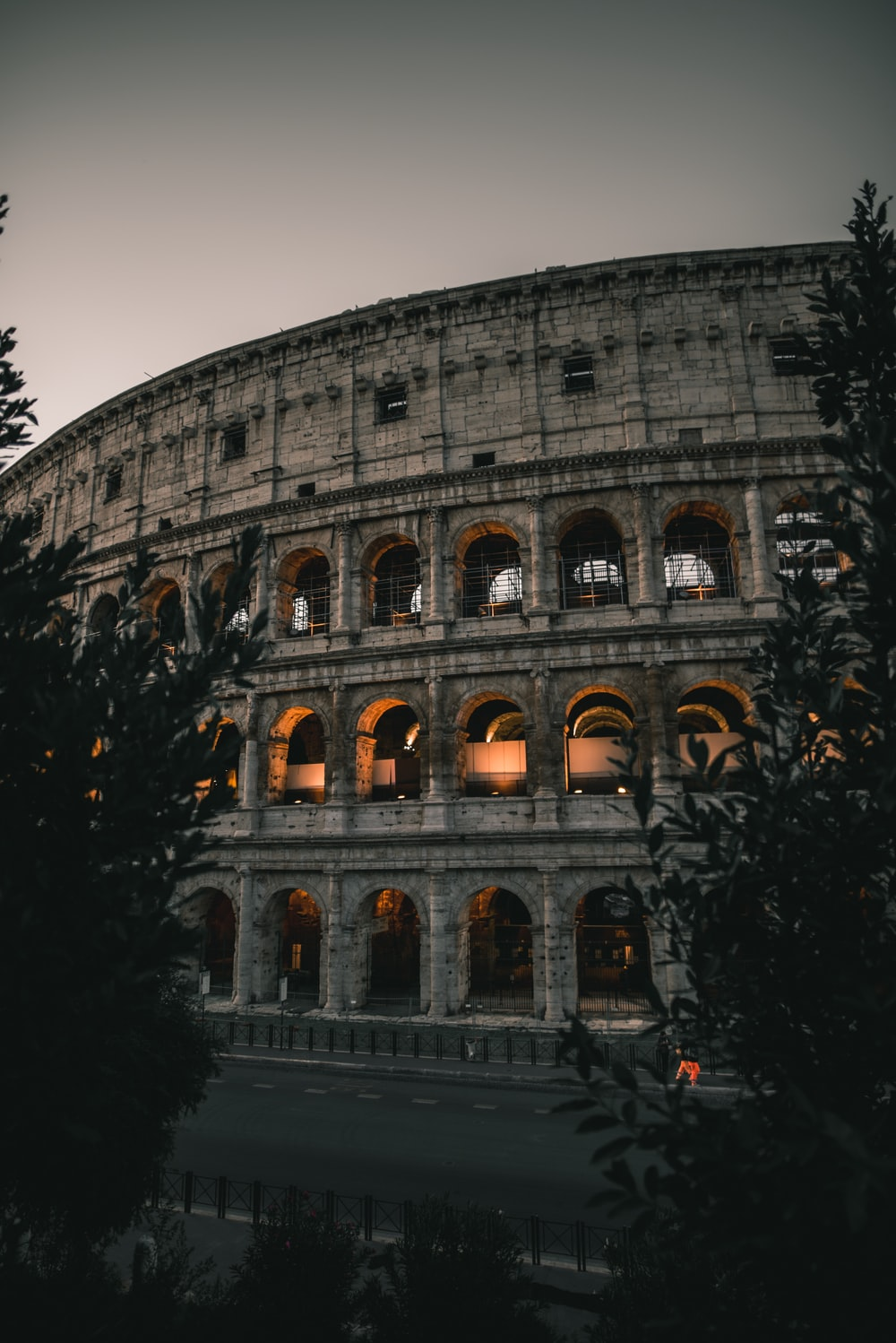 Colosseum of Rome during nighttime