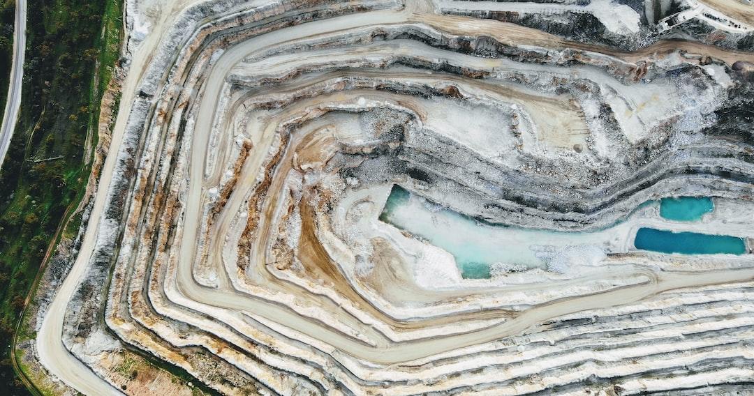 Drone over quarry in Barossa Valley, SA, Australia