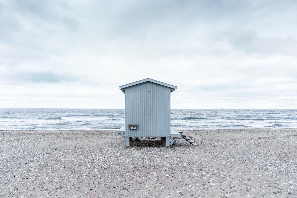 gray lifeguard house