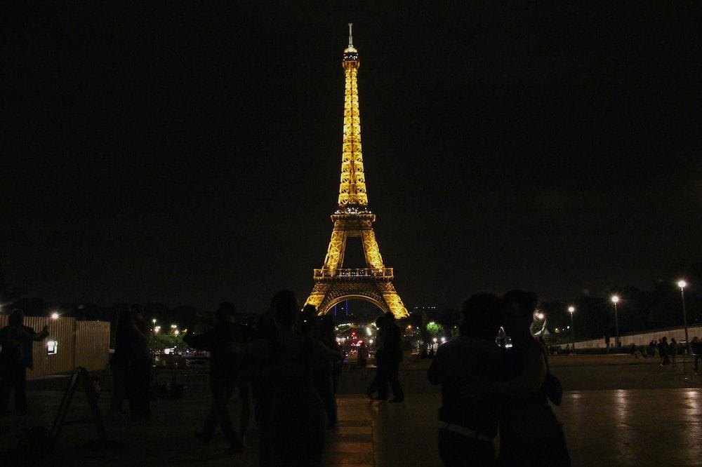 powered-on lights Eiffel Tower, Paris