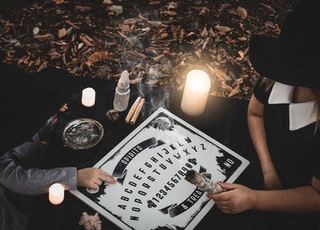 woman playing quija