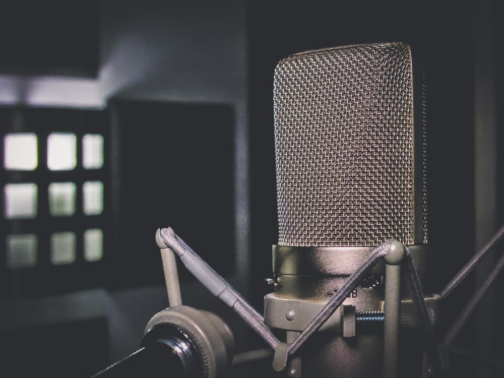 black condenser microphone close-up photography