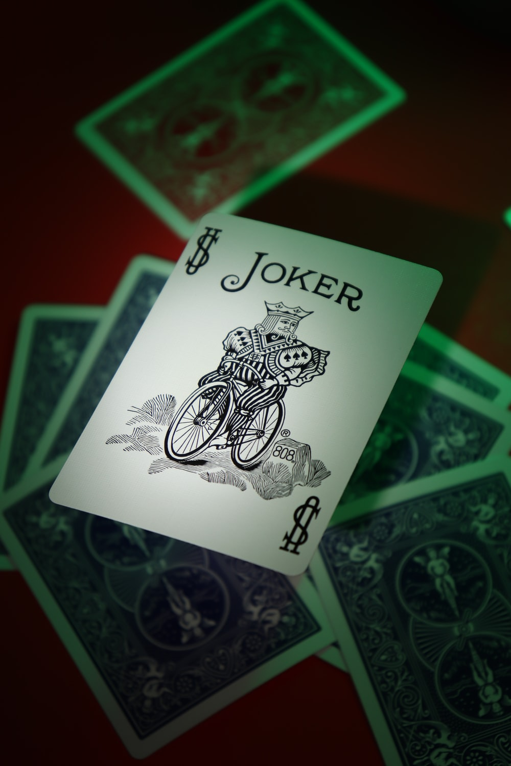 joker playing card on playing cards