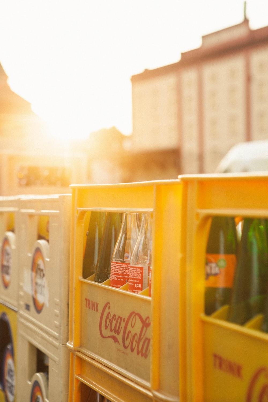 Coca-Cola bottle rack