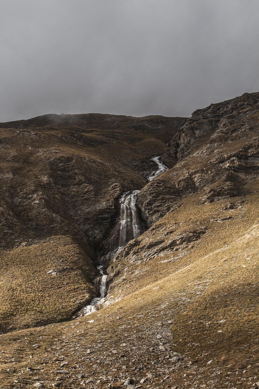 river on mountain