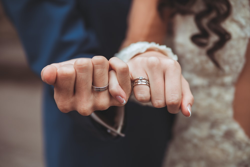 couple holding each other's hands