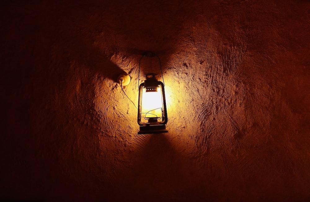 black candle lantern