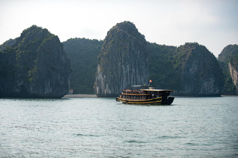 boat near islets