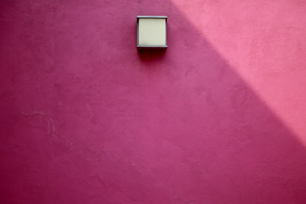 pink cement wall