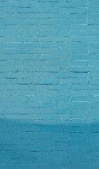 blue wall bricks