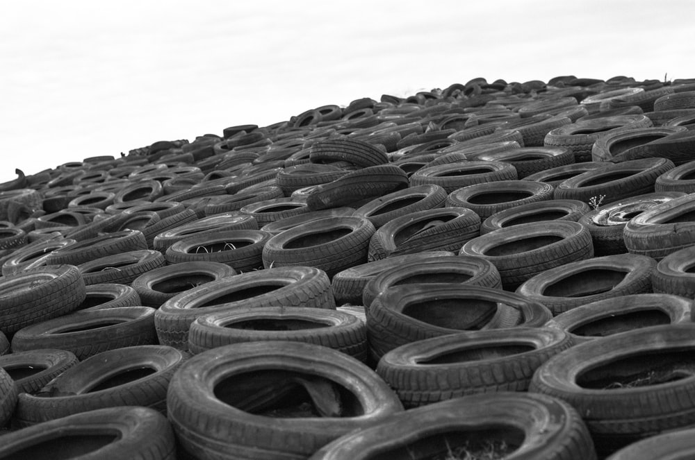 vehicle tire lot at daytime
