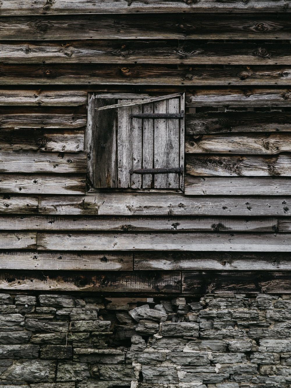gray wooden house