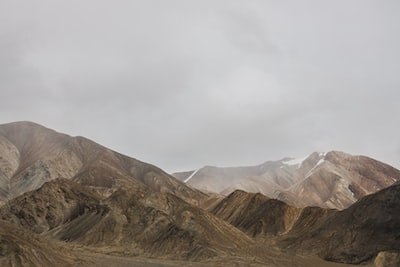 brown and gray mountain painting tajikistan zoom background