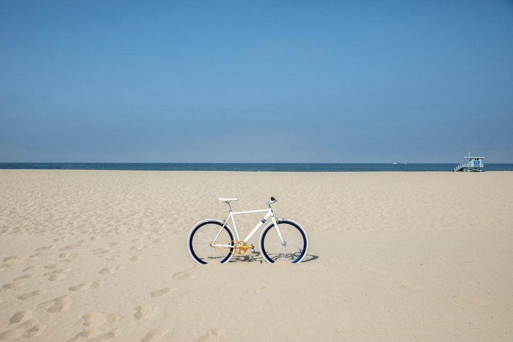 white and black mountain bike