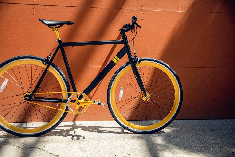 yellow and black road bike