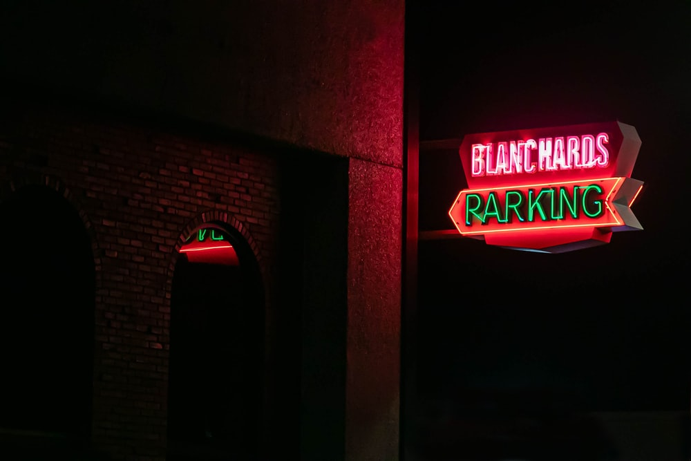 red and green neon signage