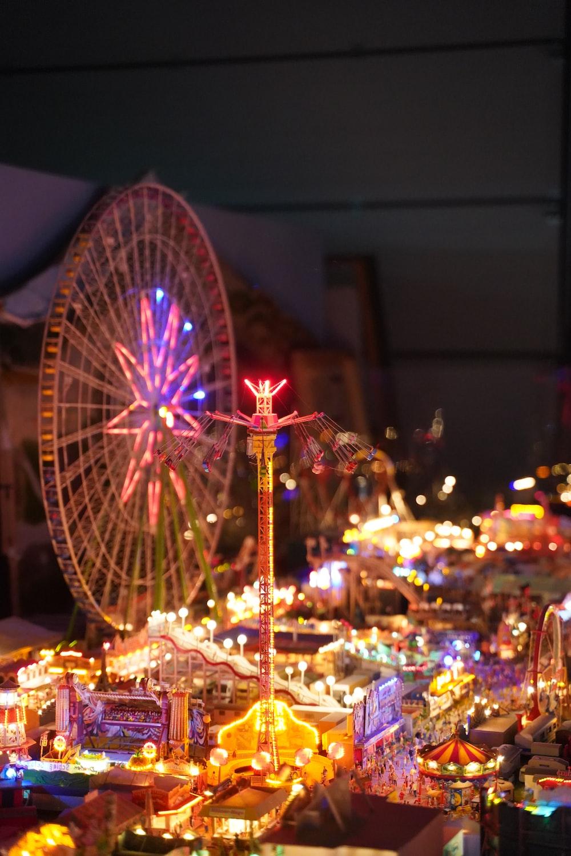 orange LED ferris wheel