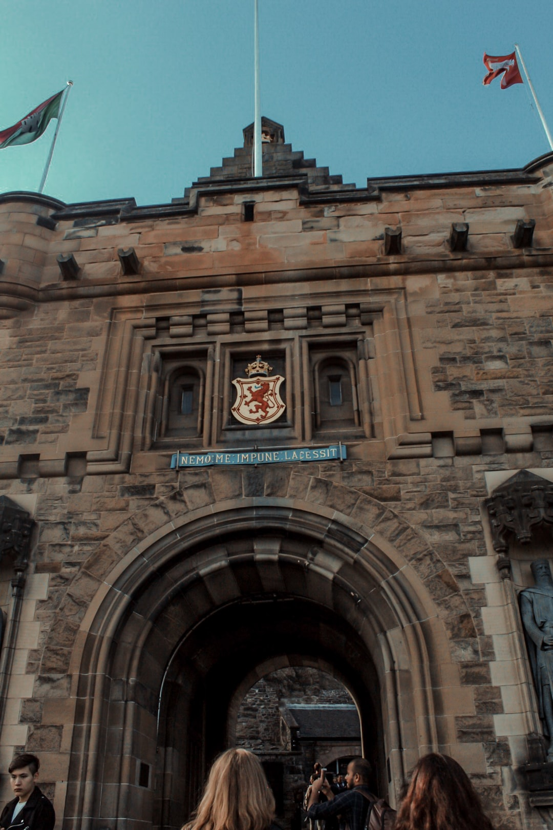 Edinburgh Castle front Gate Keep with Arch and Crest.