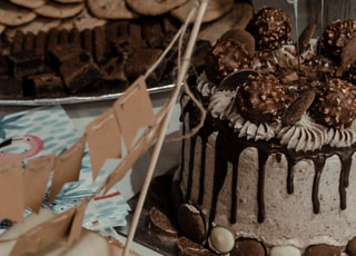 cake on white surface