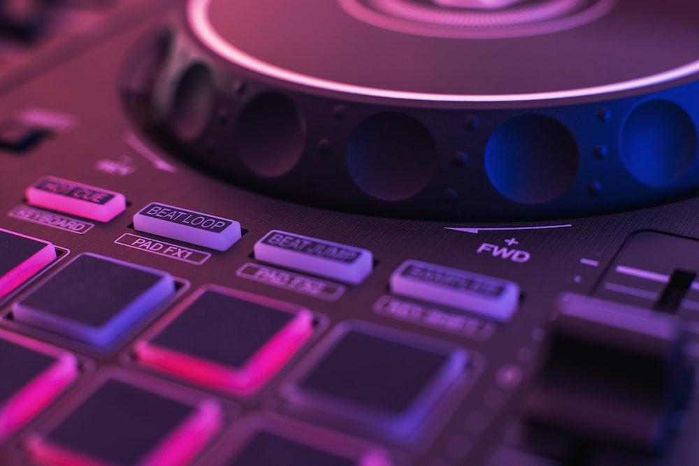 black DJ turntable