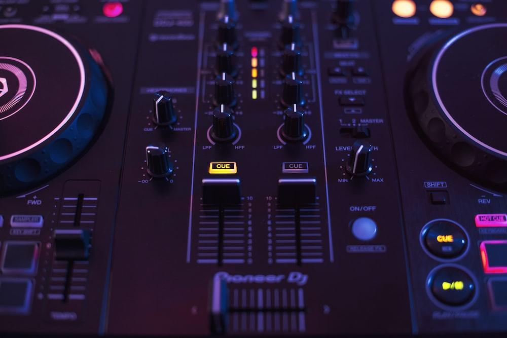 black DJ mixer