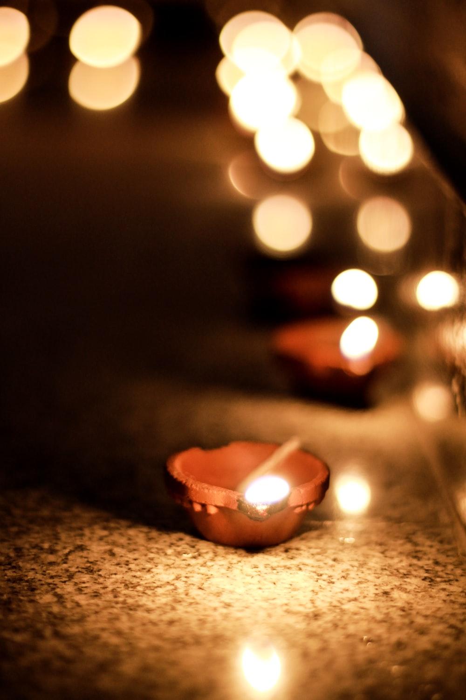 closeup photo of tealight candle