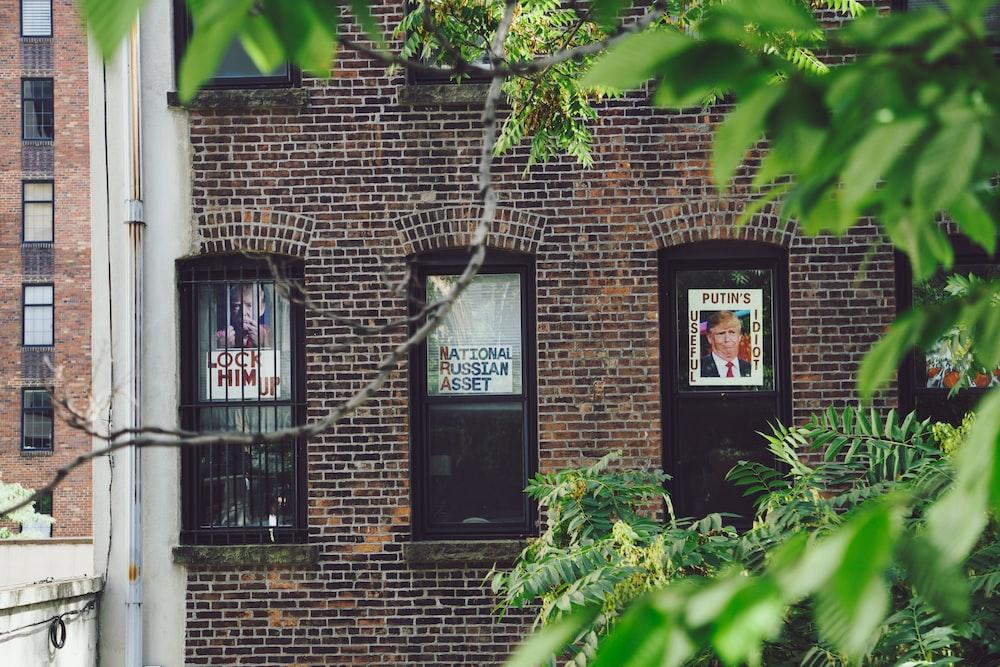 photo of three black windows