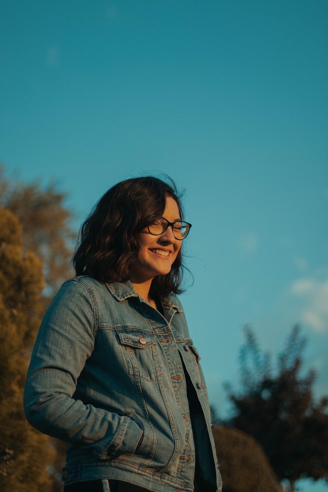 smiling girl at park