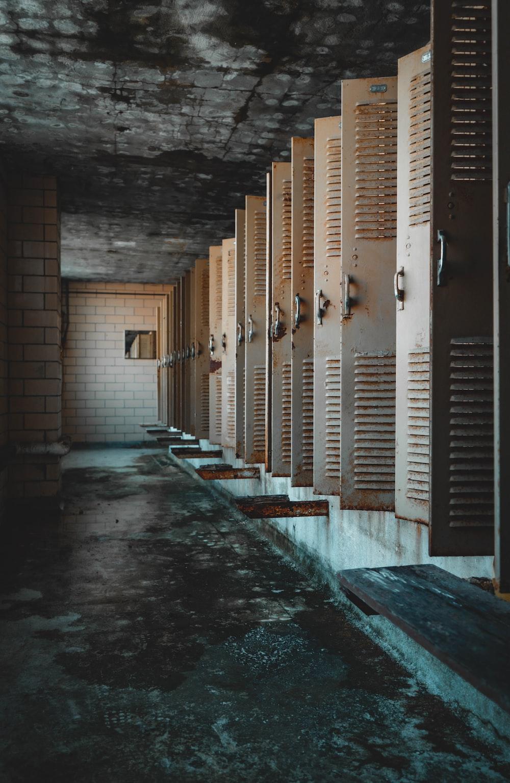 white metal locker