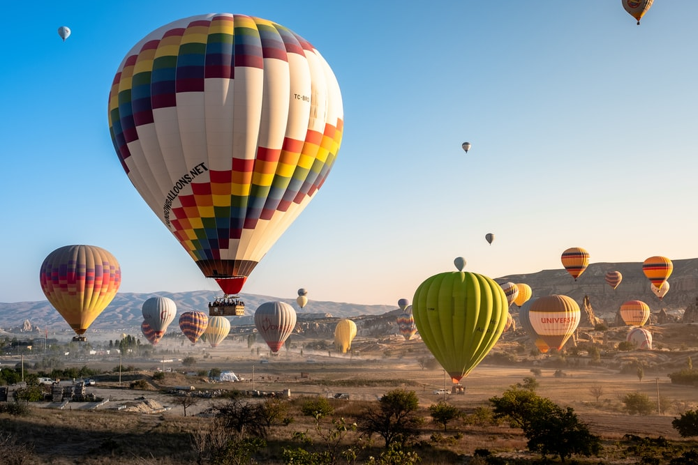 multicolored hot air balloon in the sky during daytime