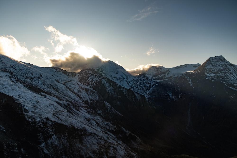 mountain during winter season