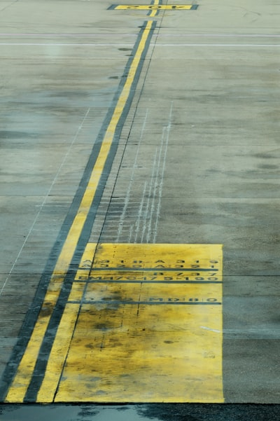 yellow and gray concrete surface