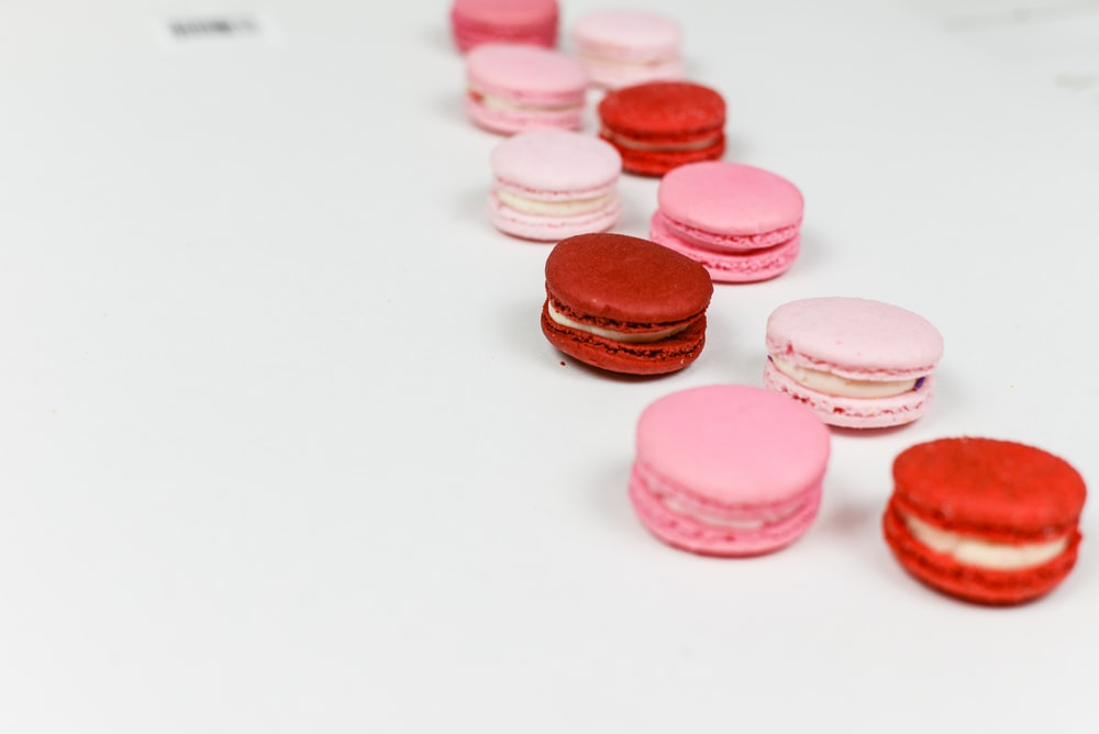 pink and red cookies