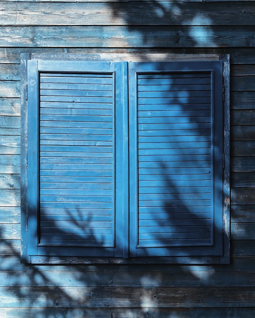 closed blue window