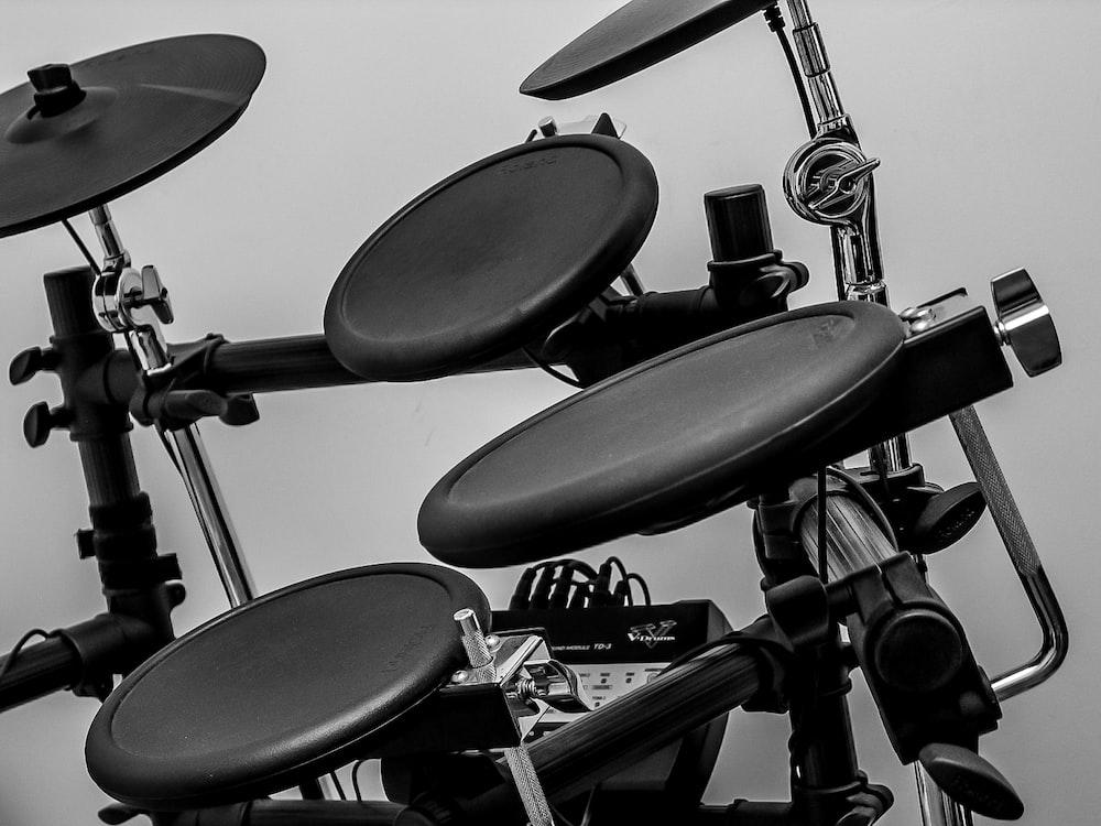 black Roland electric drum set