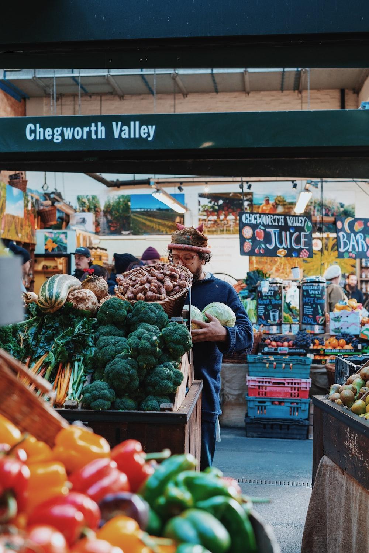 people inside vegetable store
