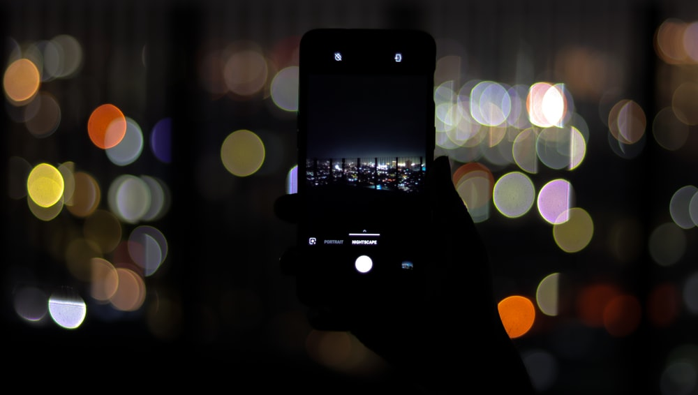 Android smartphone and boke lights