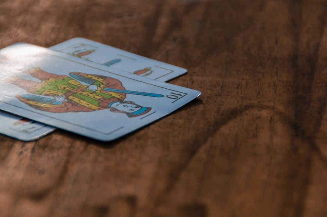 Sota de espadas. Spanish cards.