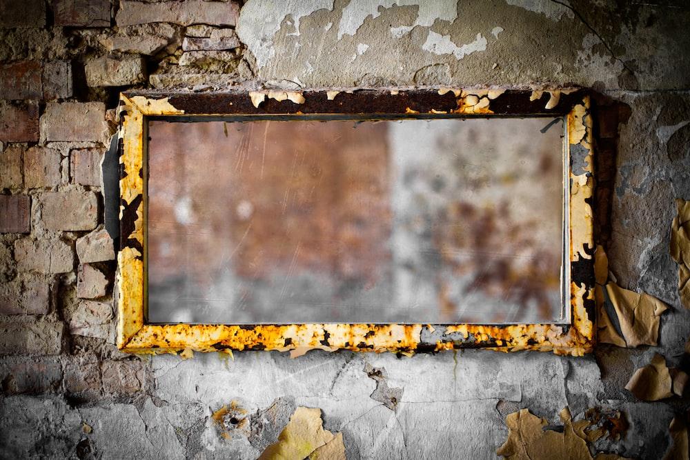 rectangular brown wall decor